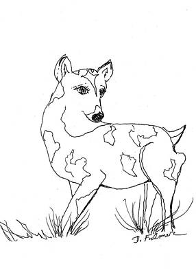 Drawing - Deer One by Denise Fulmer