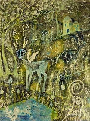 Painting - Deer Reflections by Julie Engelhardt