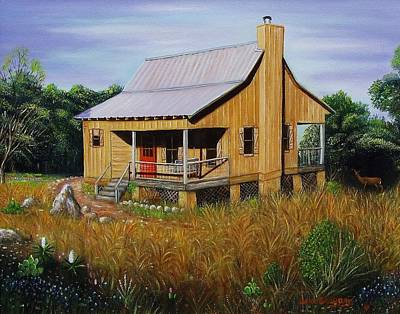 Painting - Deer Run Cabin by Gene Gregory