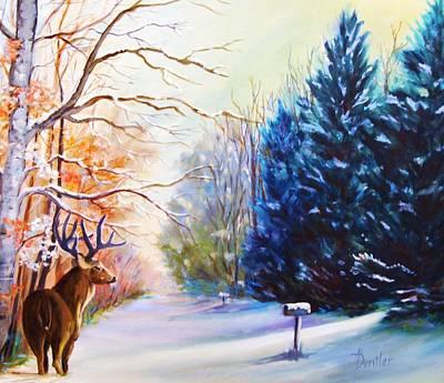 Deer Season Art Print by Anne Dentler