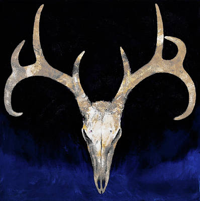 Rack Painting - Deer Skull by Michael Creese