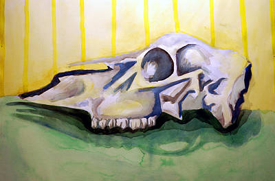 Painting - Deer Skull  One by Jame Hayes