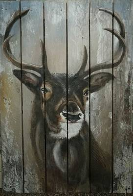 Pottery Barn Painting - Deer by Sonja Roosenhart