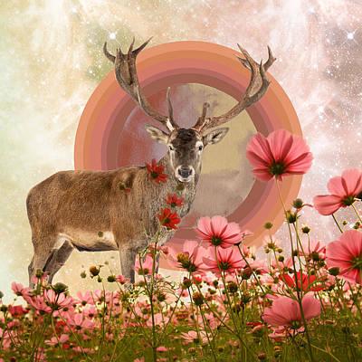 Spirit Guides Wall Art - Digital Art - Deer Spirit Guide by Lori Menna
