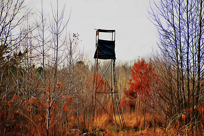Photograph - Deer Stand 1 by Gina O'Brien