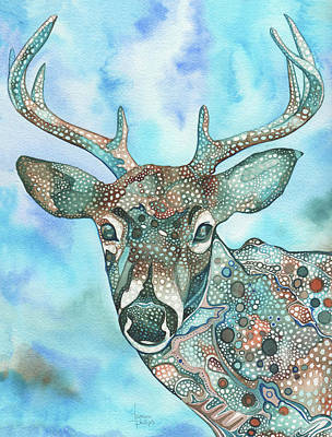 Antlers Painting - Deer by Tamara Phillips