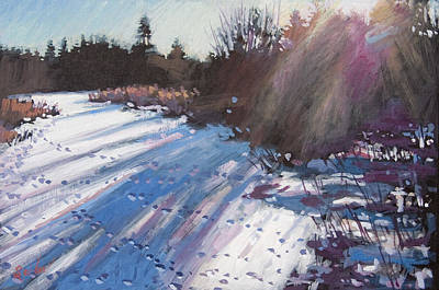 Painting - Deer Tracks Snowy River by Larry Seiler