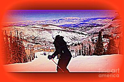 Photograph - Deer Valley Utah Powder by Richard W Linford