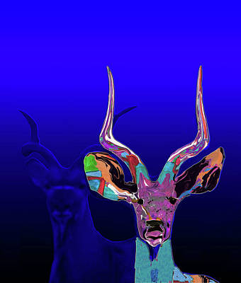 Painting - Deer1 by Martin Hardy