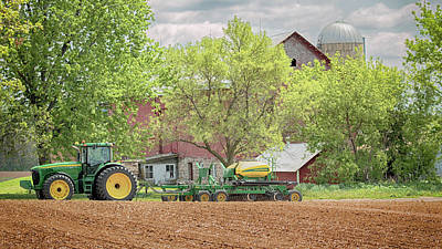 Art Print featuring the photograph Deere On The Farm by Susan Rissi Tregoning