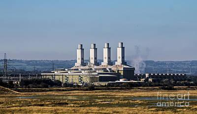 North Wales Digital Art - Deeside Power Station  by Chris Evans