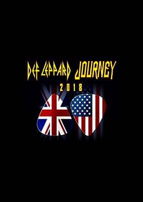 Def Leppard Digital Art - Def Leppard And Journey Tour by Yusuf Sudirman