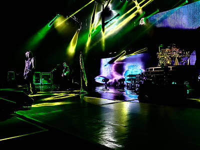 Rock Music Groups Photograph - Def Leppard At Saratoga Springs 4 by David Patterson