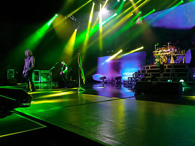 Def Leppard At Saratoga Springs Print by David Patterson
