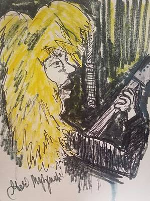 Def Leppard Drawing - Def Leppard Love Bites by Geraldine Myszenski