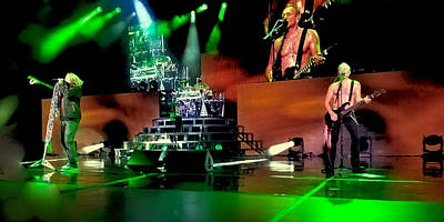 Rock Music Groups Photograph - Def Leppard On Stage by David Patterson