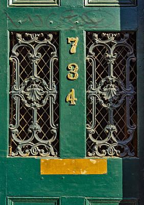 Old Door Photograph - Defaced With Luve by Steve Harrington