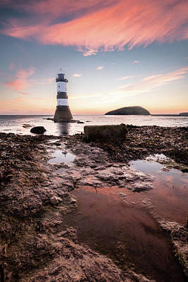Photograph - Penmon Light House by Mark Boadey