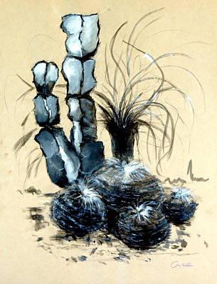 Office Plants Drawing - Defender Of The Desert 1.0 by Giro  Tavitian