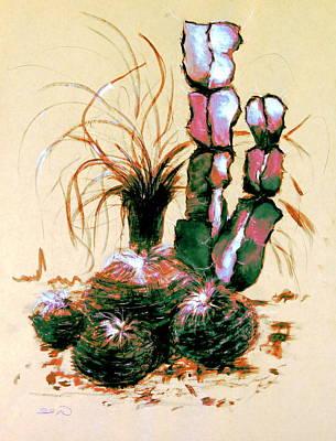 Office Plants Drawing - Defender Of The Desert 1.1 by Giro  Tavitian