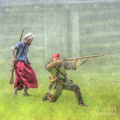 Defending Hearth And Home Art Print