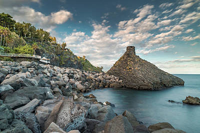 Defense Tower On The Sea Art Print by Emilio Messina