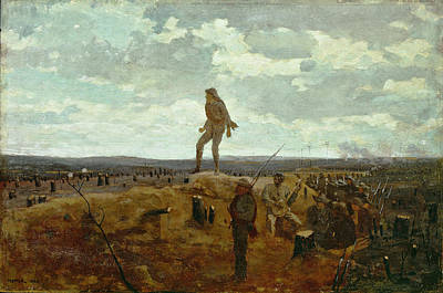 Winslow Homer Painting - Defiance. Inviting A Shot Before Petersburg by Winslow Homer