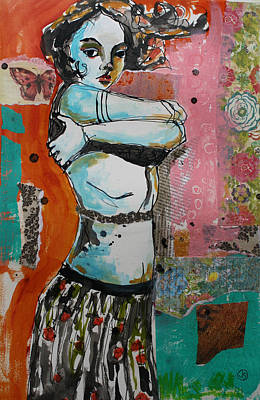 Gritty Painting - Defiance by Jane Spakowsky