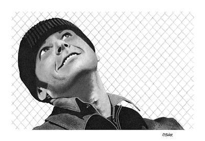 Jack Nicholson Drawing - Defiance by Michael Baker