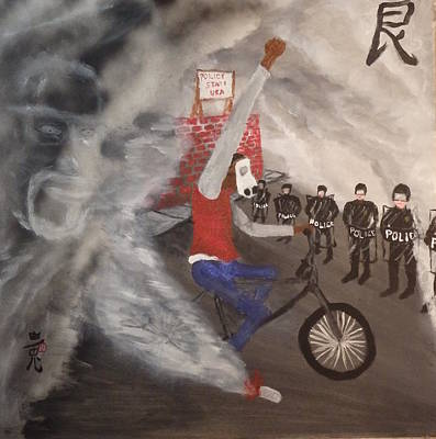 Malcolm X Painting - Defiance by White Rabbit