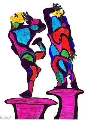 Drawing - Definism Dance by Darrell Black