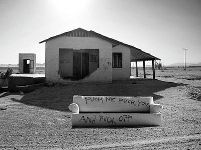 Profanity Photograph - Definitive Statement Get The F Off My Dirt Lawn by William Dey