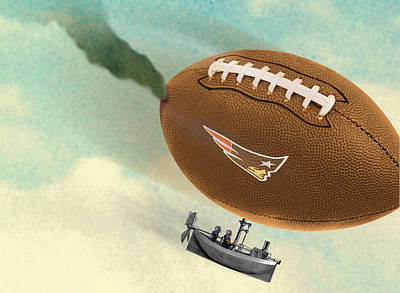American Football Digital Art - Deflategate by Steve Dininno