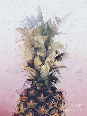 Pineapple Mixed Media - Defragmented Pineapple by Emanuela Carratoni