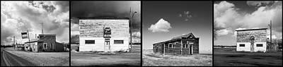 Boondocks Photograph - Defunct Country Taverns On North Dakota Prairie Composite Horizo by Donald  Erickson