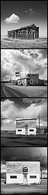 Boondocks Photograph - Defunct Country Taverns On North Dakota Prairie Composite Vertic by Donald  Erickson