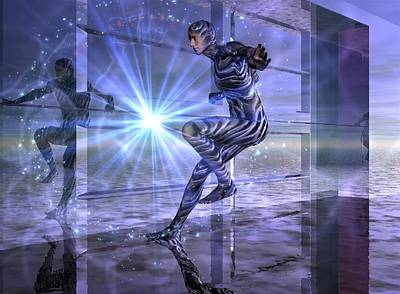 Print featuring the digital art Defy The Boundaries Visible And Invisible by Shadowlea Is