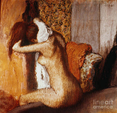 Impressionist Photograph - Degas: After The Bath by Granger