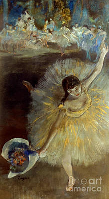 Degas: Arabesque, 1876-77 Art Print by Granger