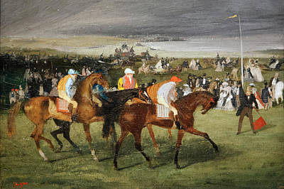 Impressionism Photos - Degas At The Races by Marilyn Hunt