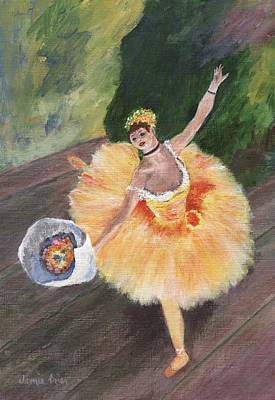 Painting - Degas Ballerina by Jamie Frier