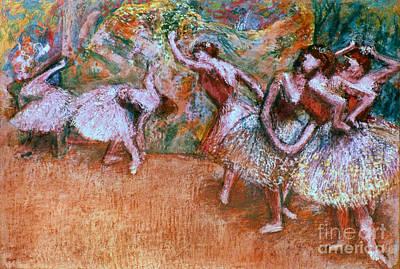 Photograph - Degas: Ballet Scene by Granger