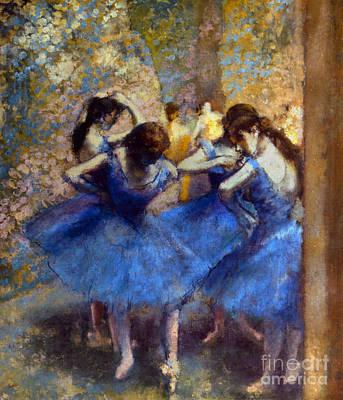 Photograph - Degas: Blue Dancers, C1890 by Granger