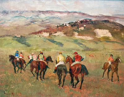 Impressionism Photos - Degas Jockeys on Horseback  by Marilyn Hunt