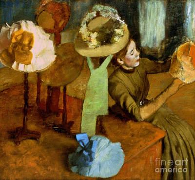 Degas: Milliner, 1879-84 Art Print by Granger