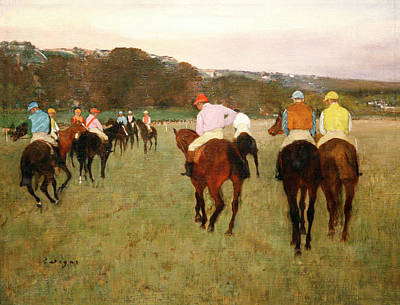 Impressionism Photos - Degas Race Hoses at Longchamp by Marilyn Hunt