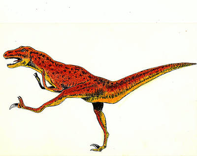 Dinosaur Mixed Media - Deinonychus by Michael Vigliotti