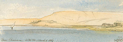 Drawing - Deir Ekhmim by Edward Lear