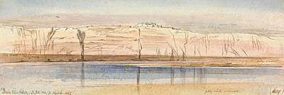 Drawing - Deir El Adra by Edward Lear