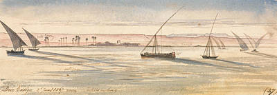 Drawing - Deir Kadige, Noon., January 2, 1867 by Edward Lear